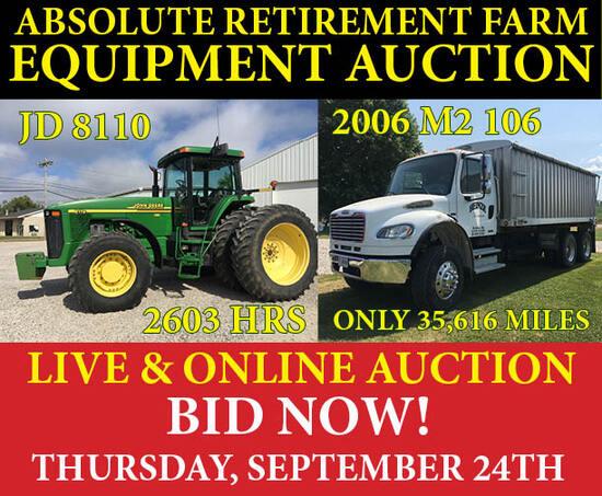 Absolute Retirement Farm Equipment Auction