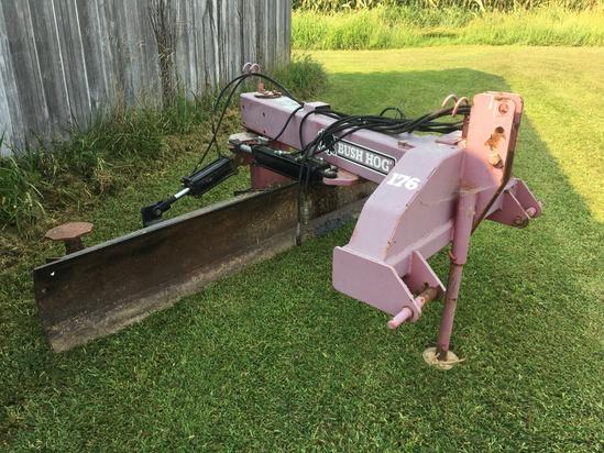 Bush Hog 176-10' hyd. swing blade, quick hitch