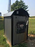 2014 Classic Central Boiler CL-5036 outside wood furnace, sells with heat exchanger, used 5 seasons.