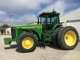 2000 JD 8110 4WD cab tractor, power shift, only 2603 one owner hours