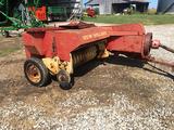 NH 268 square baler, shedded