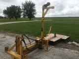 Heavy duty Danuser 3pt. mounted I beam hyd. log splitter, stand offs, log lift.