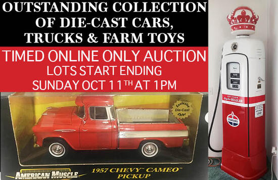 VINTAGE GAS PUMP & DIE-CAST TOY AUCTION
