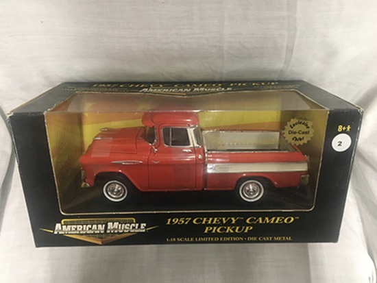 1957 Chevy Cameo Pickup, 1:18 scale, Ertl, American Muscle, Exclusive Die-Cast Color