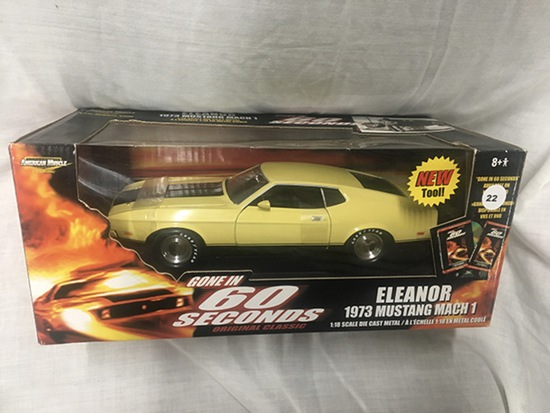 """Eleanor"" 1973 Mustang Mach 1, 1:18 scale, American Muscle, Gone in 60 seconds"