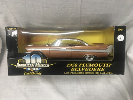 1958 Plymouth Belvedere, 1:18 scale, Ertl, American Muscle
