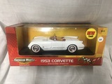 1953 Corvette, 1:18 scale, Ertl, American Muscle, 50th Anniversary Collection, New Tool