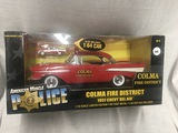 1957 Chevrolet Bel Air, Colma Fire District 1:18 scale w/1:64 scale Police car