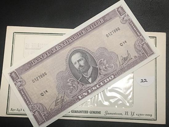 1 Escudo Chile Paper