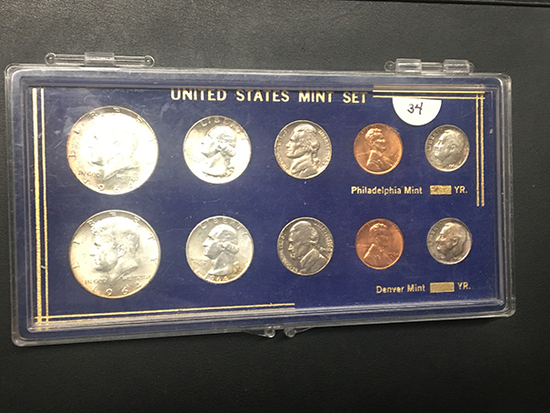 1964 US Mint set in acrylic