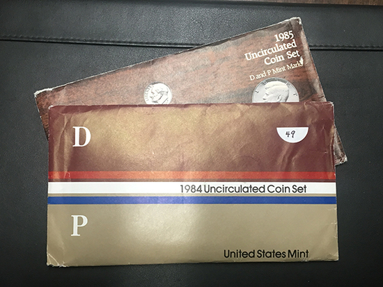 1984 & 85 US Mint set