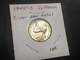 1945 S Silver War nickel BU