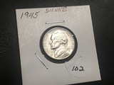 1945 P Silver War nickel BU