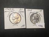 1948 P & D Jefferson nickel BU