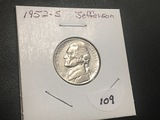 1952 S Jefferson nickel UNC