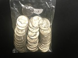 Bag of 40 1970-S Jefferson nickels BU