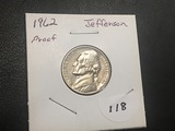1962 Jefferson nickel Proof