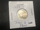 1998 S Jefferson nickel Proof