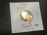 2003 S Jefferson nickel Proof