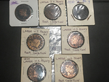 Bag of 7 Large cents poor condition (2) 1820, 21, 22, 32, 42, 51