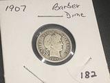 1907 Barber Dime