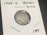 1909 S Barber Dime