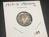 1919 S Mercury Dime