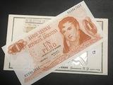 1 Peso Republica Argentina General Belgrano Paper