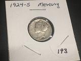 1924 S Mercury Dime