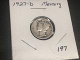 1927 D Mercury Dime