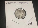 1928 D Mercury Dime