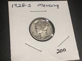 1928 S Mercury Dime