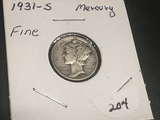 1931 S Mercury Dime