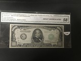 1934 A $1000 Bill FR-2212-G CGA Graded AU58