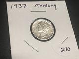 1937  Mercury Dime BU