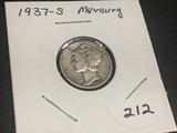 1937 S  Mercury Dime Fine