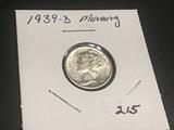 1939 D  Mercury Dime BU