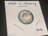1939 S  Mercury Dime Fine