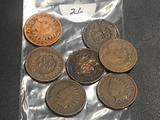 Bag of 7 Indian head Cents