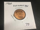 1966 Lincoln Cent Die Clash Reverse