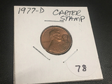 1977-D  Cent Jimmy Carter Stamp
