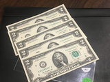 5 consecutive $2 Bills H01685001-005 CRISP