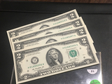 5 consecutive $2 Bills H01685006-010 CRISP