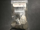Bag of 135 NO DATE Buffalo Nickels