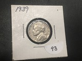 1939 Jefferson Nickel AU