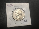 1939 Jefferson Nickel BU