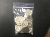Bag of 40 older Jefferson nickels
