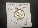 1944 S Silver War nickel BU