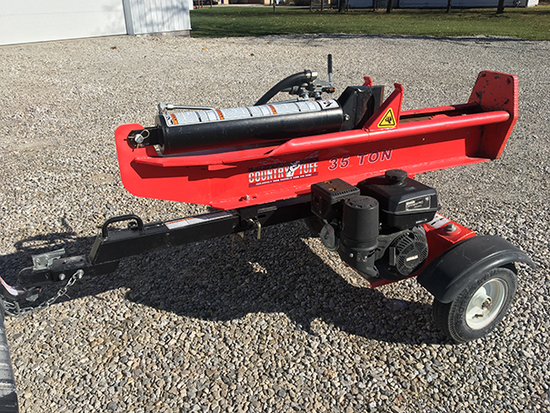 Country Tuff 35 ton horizontal & vertical gas powered log splitter, used little