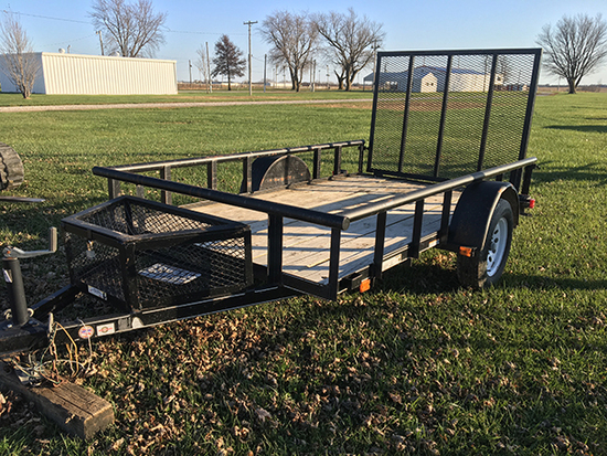 2017 5 1/2x10ft Utility Trailer, single axle, drop gate (Consigned by Garry Graham 660-341-4797)